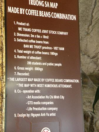 National Oceanographic Museum of Vietnam: Coffee bean map