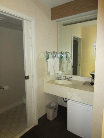 Bath vanity area Sleep Inn Moab