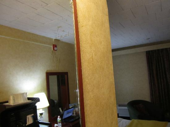 residue on mirror and wall