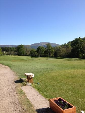 Killin Golf Club: First/tenth green in the distance