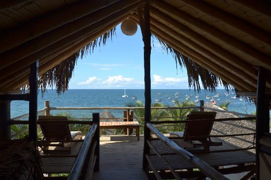 Hotel Grand Mare & Bungalows: Vista desde la cabaña.