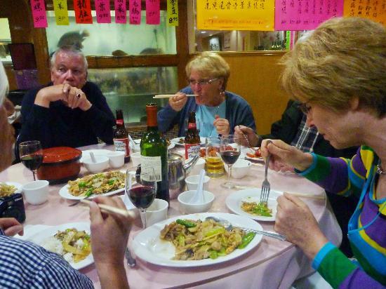 Chef Hung's Restaurant: Enjoying our plentiful meal