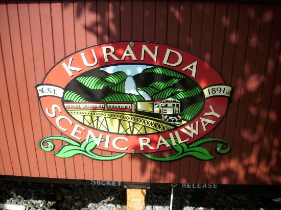 Down Under Tours - Day Tours: Kuranda Railway Sign
