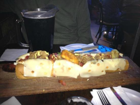 Sotano Suizo: 1/2 Meter Mamut Dog and Indio Draft Beer