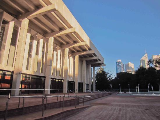 The nice frontage of the Perth Concert Hall