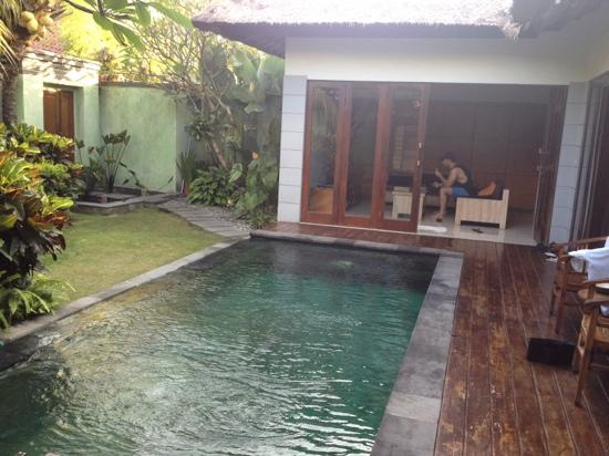Abimanyu Villas: villa 1. life's tough eh :-)