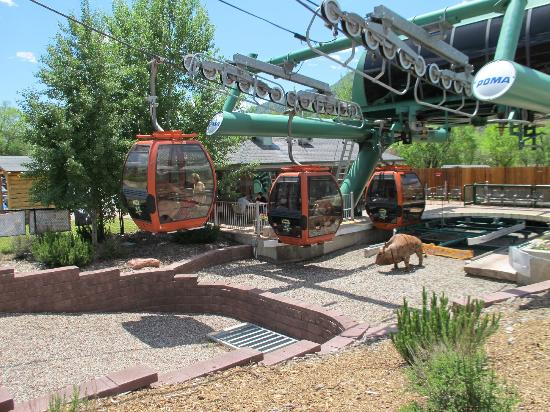 Glenwood Caverns Adventure Park : Tram at lower base