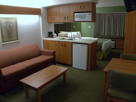Microtel Inn & Suites by Wyndham Springfield: Looking toward the window.