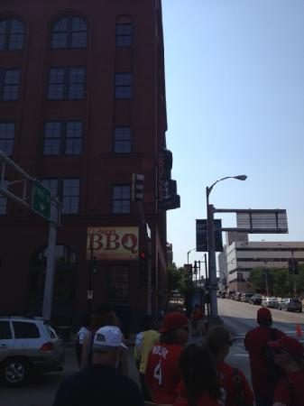 J. Buck's: front entrance in shadows, just W of stadium