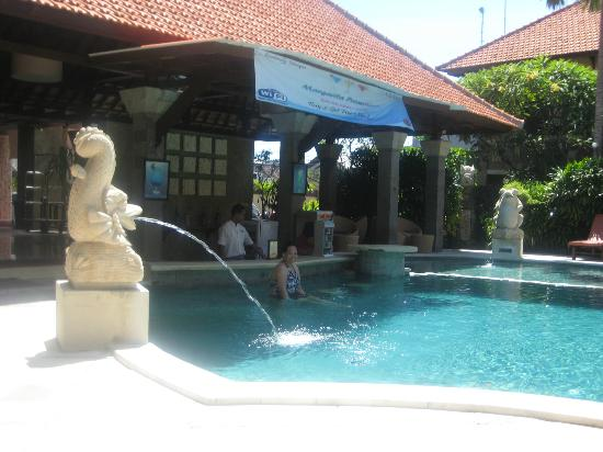 Adhi Jaya Hotel: swimming pool area