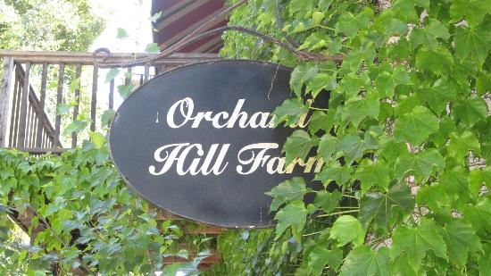 Orchard Hill Farm Bed & Breakfast: sign