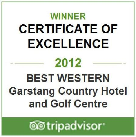 Best Western Garstang Country Hotel And Golf Centre: Thank you TripAdvisor, our reviewers and of course the satff