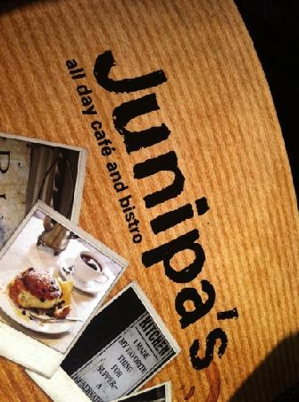 Junipa's: the menu