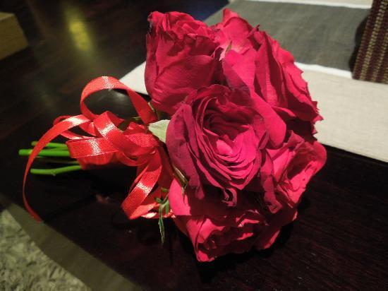 Anantara Seminyak Bali Resort: welcome bouquet