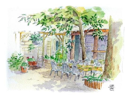 La Peniche: Aquarelle du jardin