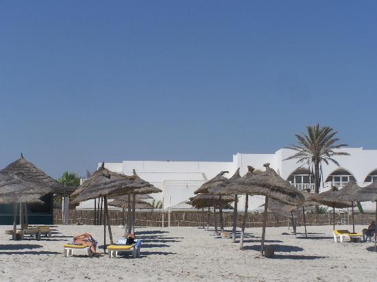 Hotel Djerba Haroun : vu plage privée haroun