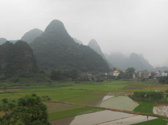 Yangshuo Tea Cozy: View from roof top bar