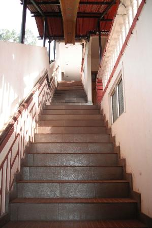 Hotel Darshan Ooty: stairs to super deluxe room