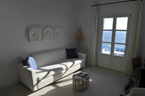 Mykonos Grand Hotel & Resort: Nice sitting area with views on the sea