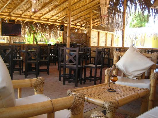 Los Organos Beach: bar area- hosts karaoke too