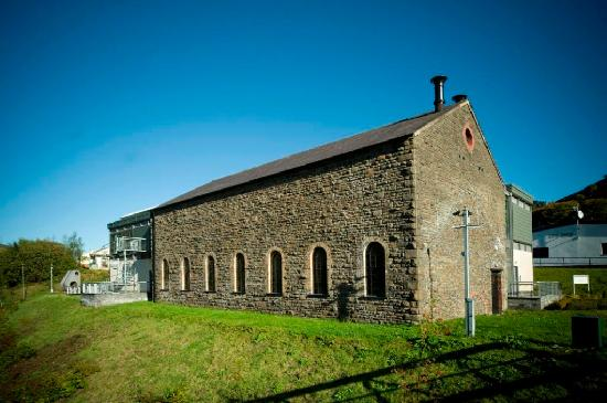 New Tredegar, UK: The Winding House is built around the 19th century historic engine house.