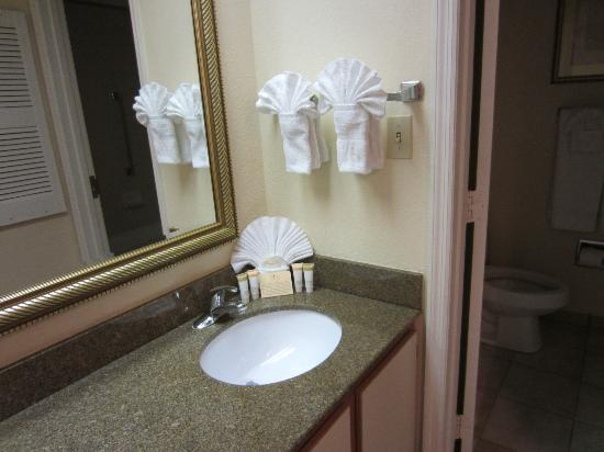 The Palms Hotel and Villas: Master Bathroom