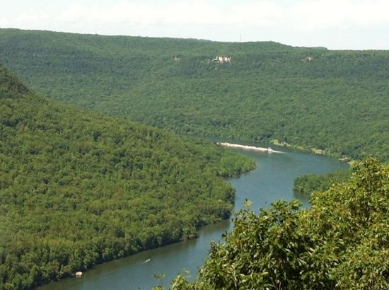 Raccoon Mountain Dam: view of Tennessee River Gorge from Visitor Center