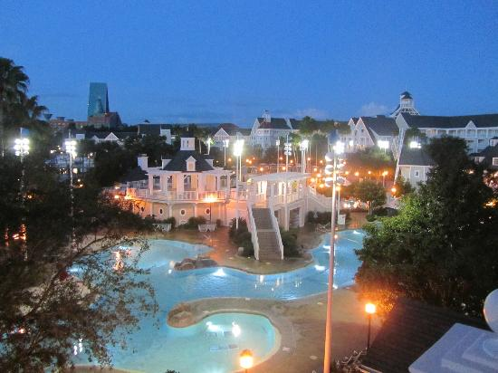 Disney's Beach Club Resort: view from our room at night