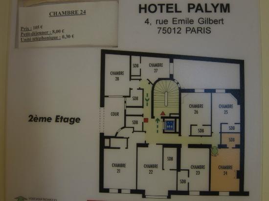 ホテル パリム, 部屋