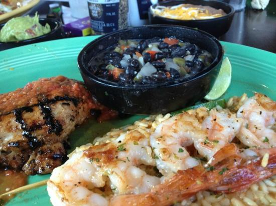 Don Pablo's: Chicken & Shrimp Combo w/ Black Beans