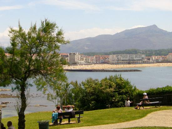 Villa Bel Air : View of the bay, hotel situated overlooking beach,  opposite this park