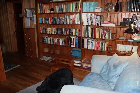 Henson Cove Place B&B: books you can help yourself to...
