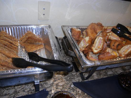 Parkside Grill: creme brulee French toast and Monte Cristo sandwich