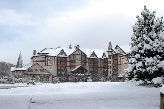 The Inn at Christmas Place: Dressed in a blanket of snow - what a cozy place to be on a winter day!