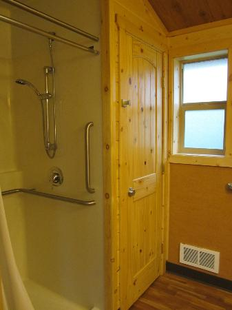 Cape Lookout State Park: Shower (& closet accessible only by staff)