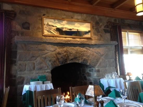 Fireplace Picture Of Crater Lake Lodge Dining Room