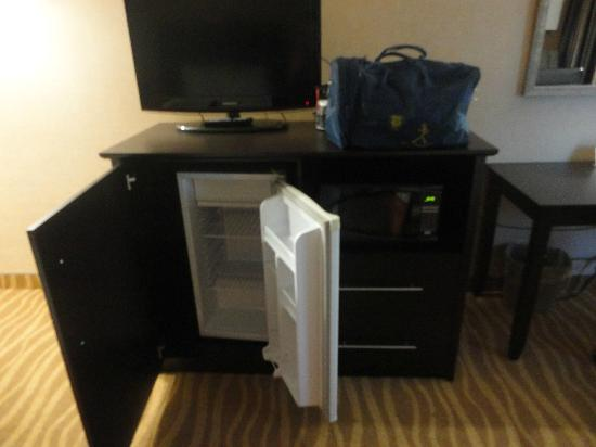 Park Inn By Radisson Toronto-Markham: fridge, microwave and tv
