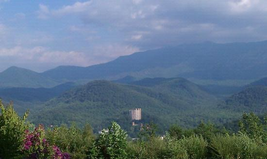 The Highlands Condominium: Looking down on Gatlinburg