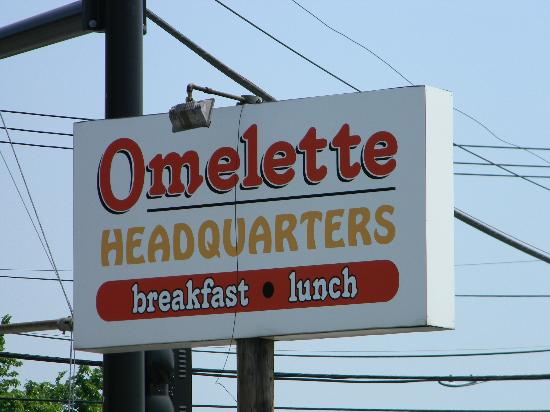 Omelette Headquarters: Restaurant sign