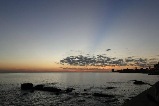 Rambla de Montevideo: Atardecer
