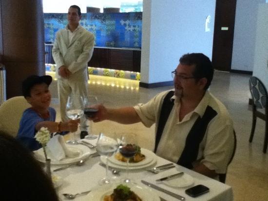 Holiday Inn Cartagena Morros: My nephew and I toasting.