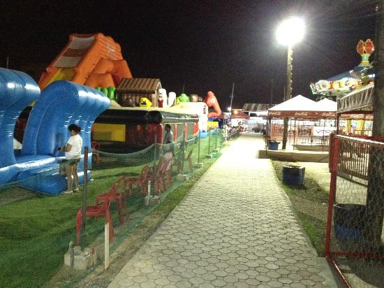 St. James Amusement Park: they have an area for inflatable bouncy toys for the kids
