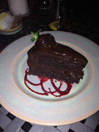 Alley House Grille: Flourless Chocolate Cake!
