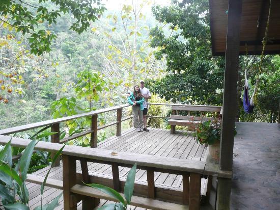 Black Rock Lodge: Waterfall Deluxe Cabin deck