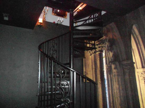 Lions Gate Manor: Staircase to a secret passage