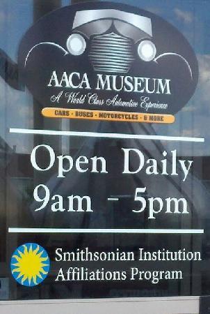 Antique Automobile Club of America Museum: Sign