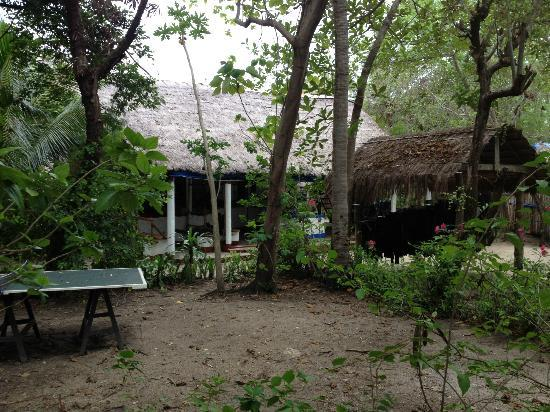 Pandan Island Resort: Area around dining place and diving shop