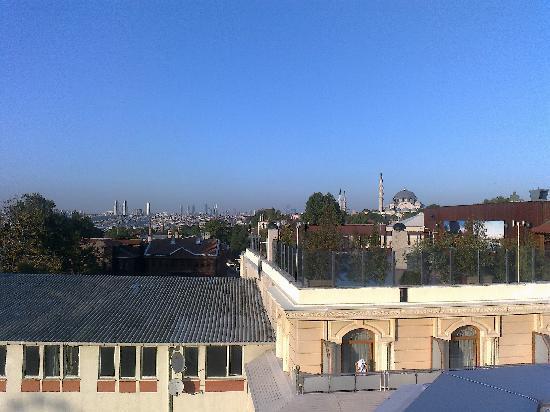 Hotel Mosaic: Vista dal Balcone della mia camera
