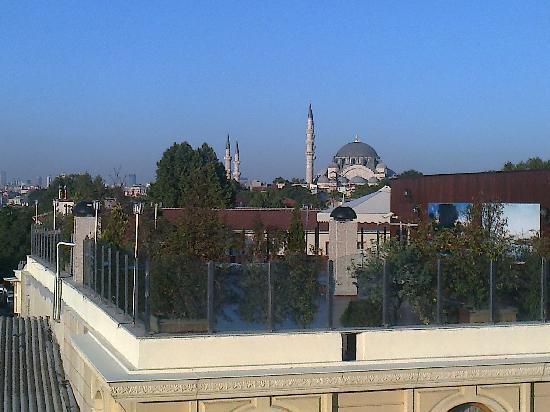 Hotel Mosaic: Vista dal Balcone della mia camera 2