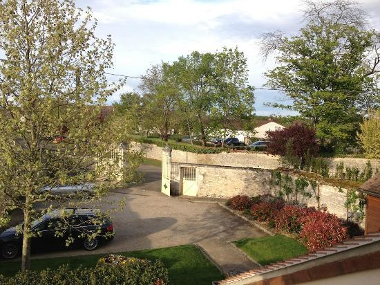 """Hotel La Chouette: view from my room towards the """"city"""" below (its a tiny village!!)"""
